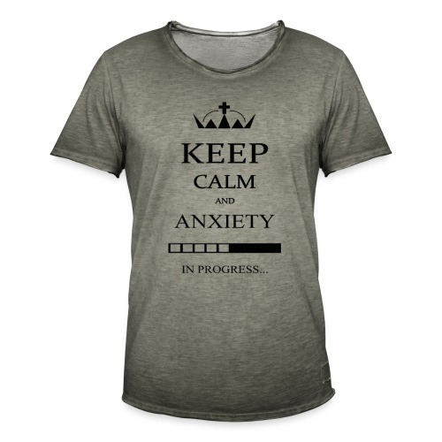 keep_calm - Maglietta vintage da uomo