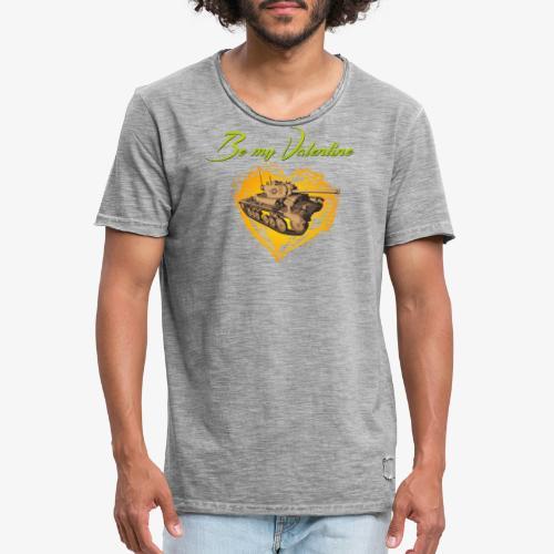 Glowing Valentine Heart - Männer Vintage T-Shirt