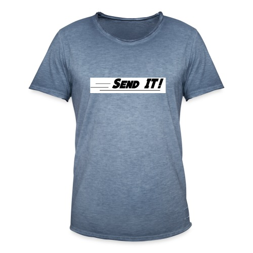 send it logo white - Men's Vintage T-Shirt
