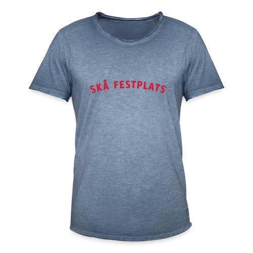 Skå Festplats Logotyp Röd - Vintage-T-shirt herr