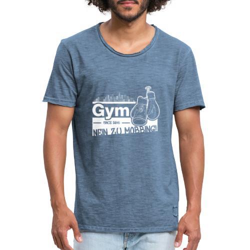 Nein zu Mobbing Men Druckfarbe weiß - Männer Vintage T-Shirt