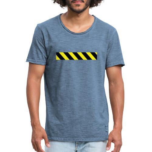 coution 2 - Vintage-T-skjorte for menn