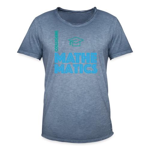 Colligere Math - Vintage-T-skjorte for menn