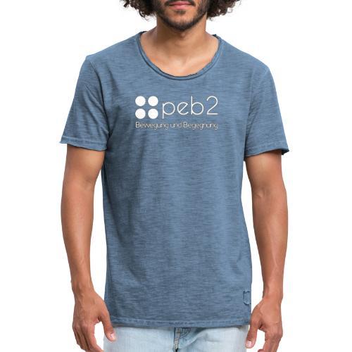 Logo peb2 weiss - Männer Vintage T-Shirt