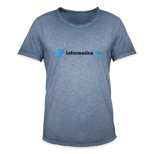 InformaticaLab logo for white background - Maglietta vintage da uomo