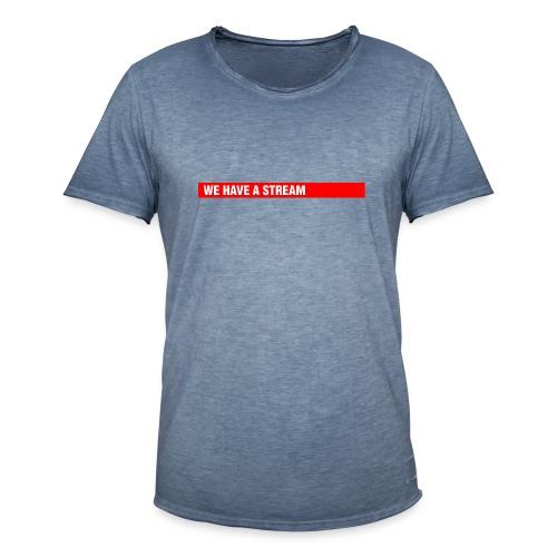 Stream Logo Gross - Männer Vintage T-Shirt