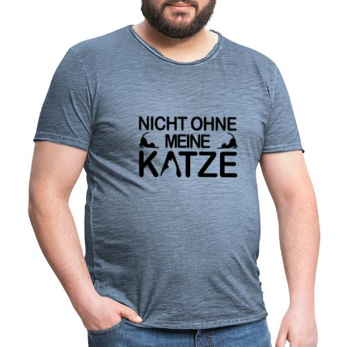nicht ohne meine Katze - Männer Vintage T-Shirt
