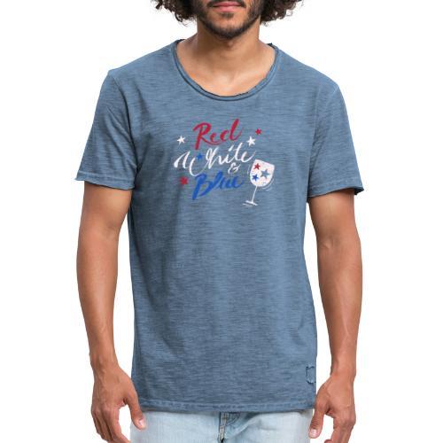 Red White Blue Letter USA 4th fourth of July Shirt - Männer Vintage T-Shirt