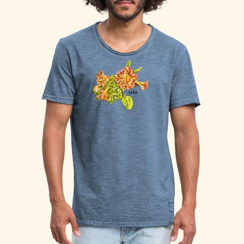 Trompetenbaum Blüten von S.A.R.A. - Männer Vintage T-Shirt