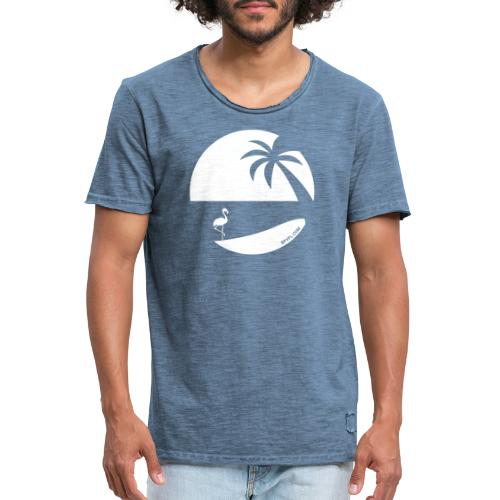 Logo French Floridian blanc - T-shirt vintage Homme