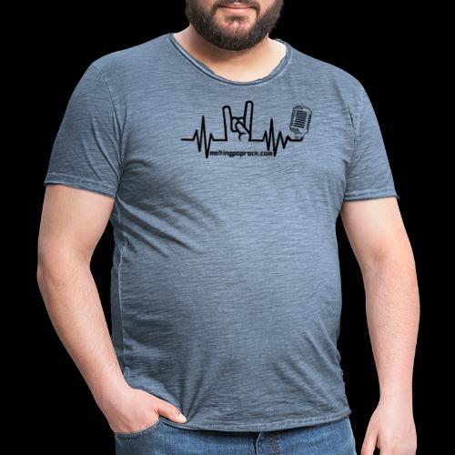 Logo + site noir - T-shirt vintage Homme