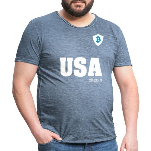 USA Bitcoin - Camiseta vintage hombre