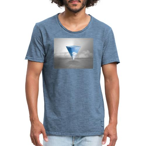 Geometrie Grey - Männer Vintage T-Shirt