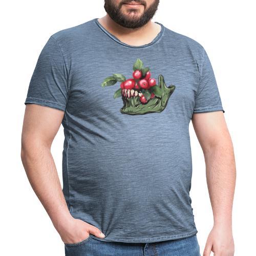 Skull Vegan - T-shirt vintage Homme
