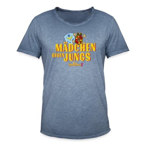 Mädchen gegen Jungs - Männer Vintage T-Shirt