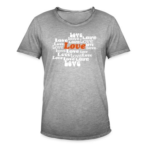 love - Mannen Vintage T-shirt