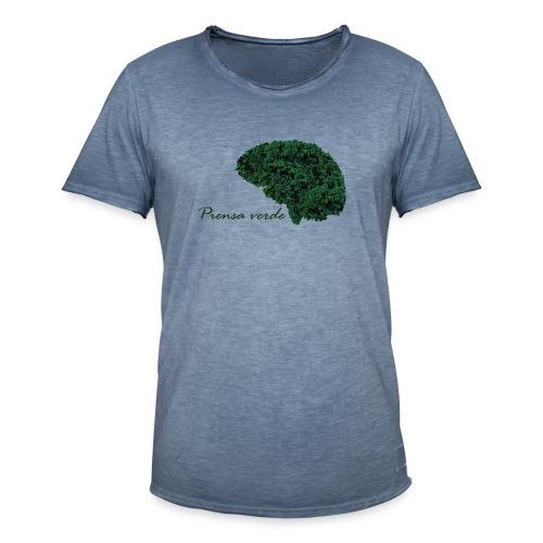 Piensa verde - Camiseta vintage hombre