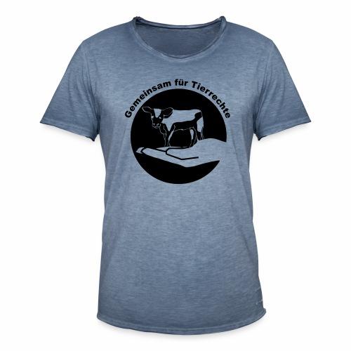 Gemeinsam fuer Tierrechte Logo - Männer Vintage T-Shirt