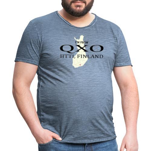 QXO - Miesten vintage t-paita