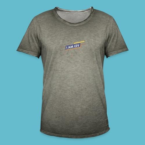 I AM LEV Banner - Mannen Vintage T-shirt