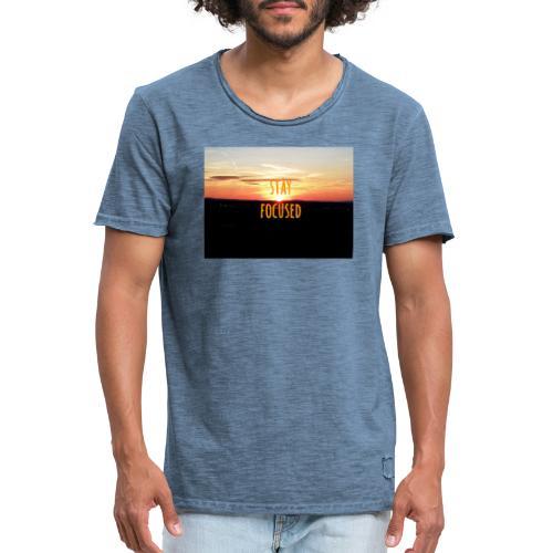 stay focused sunset - Männer Vintage T-Shirt