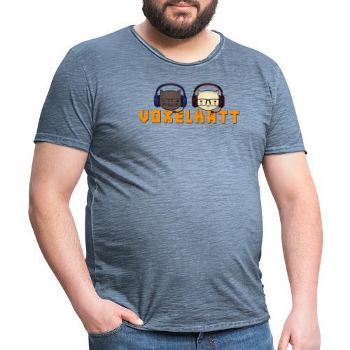 VOXELKATT LOGO - Vintage-T-shirt herr