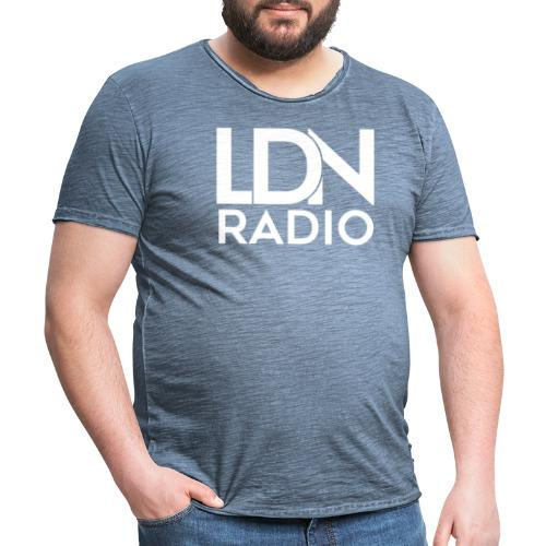 LDN Radio Logo white - Men's Vintage T-Shirt