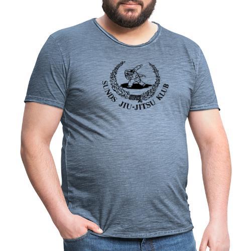 Sunds jiu-jitsuklub - logo foran - Herre vintage T-shirt