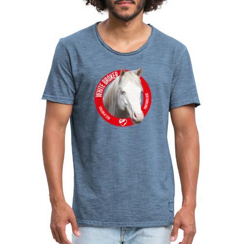 WHITE BROKER - Maglietta vintage da uomo