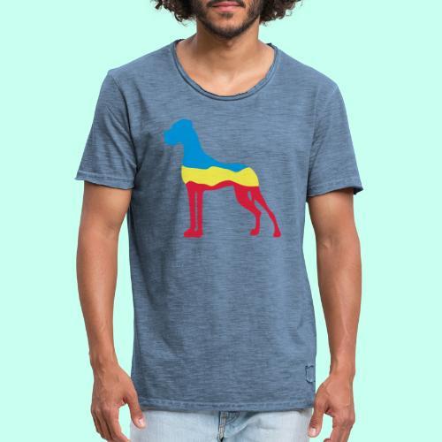 Flaggen Dogge - Männer Vintage T-Shirt