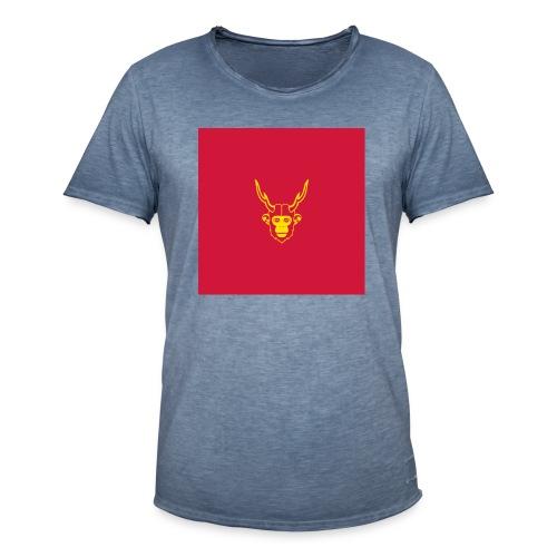 scimmiacervo sfondo rosso - Maglietta vintage da uomo