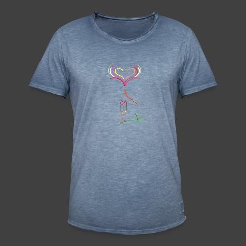 Feuerwerk - Männer Vintage T-Shirt