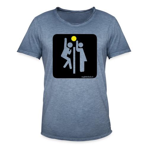 Toilet Volley - Maglietta vintage da uomo