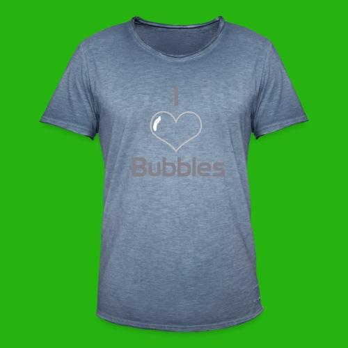 I Love Bubbles Shirt - Men's Vintage T-Shirt