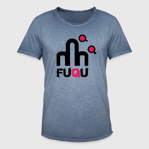 T-shirt FUQU logo colore nero - Maglietta vintage da uomo
