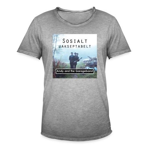 Sosialt Uakseptabelt - Vintage-T-skjorte for menn