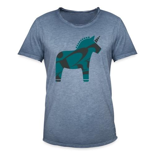 Swedish Unicorn - Männer Vintage T-Shirt