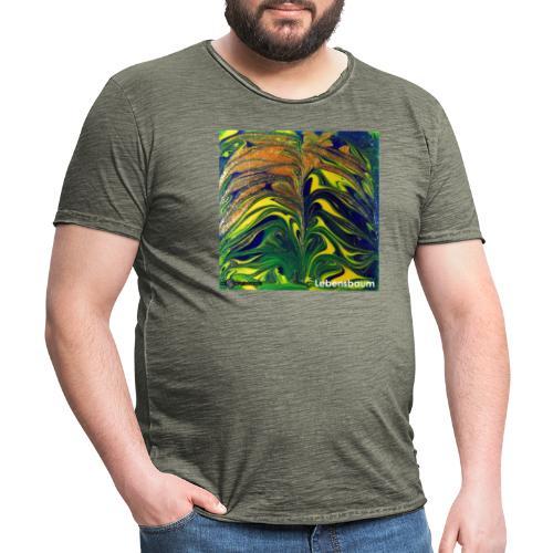 TIAN GREEN Mosaik DE029 - Lebensbaum - Männer Vintage T-Shirt