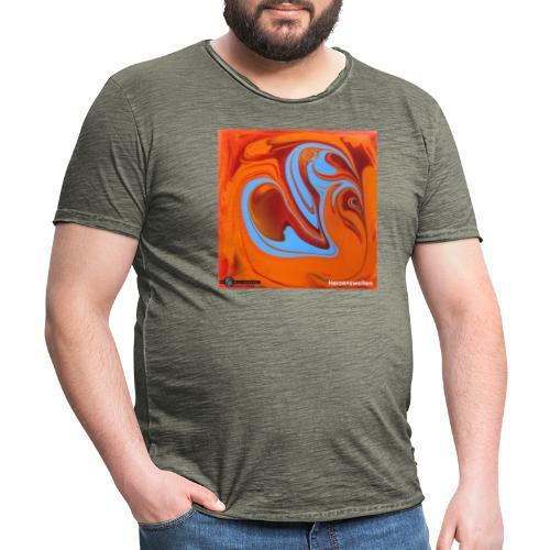 TIAN GREEN Mosaik DK005 - Herzenswelten - Männer Vintage T-Shirt