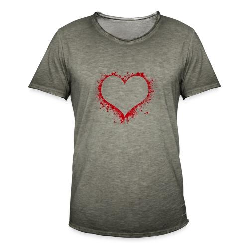 Herz/Heart - Männer Vintage T-Shirt