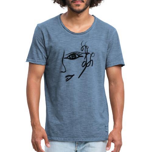 Gesicht - Männer Vintage T-Shirt