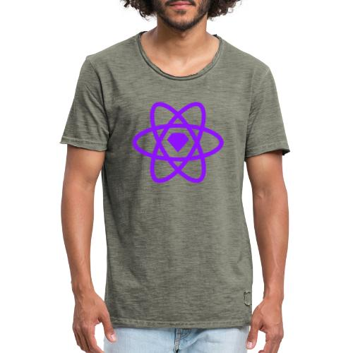 Sketch2React Dark Purple Logo - Men's Vintage T-Shirt