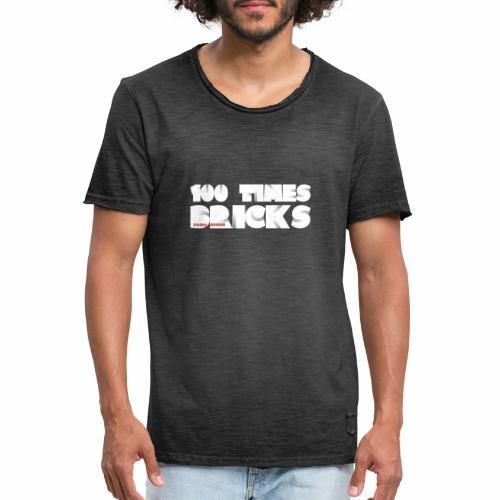 100 TIMES BRICKS retrò - Maglietta vintage da uomo