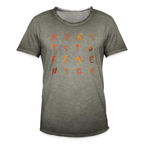 KunstStoffMensch #2 - Männer Vintage T-Shirt