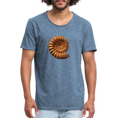 Ammonite Slat - Männer Vintage T-Shirt