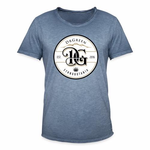 drgreen buttons weiß - Männer Vintage T-Shirt