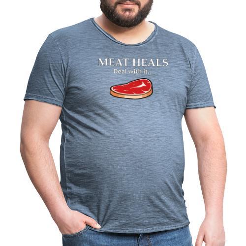 Meat Heals - Men's Vintage T-Shirt
