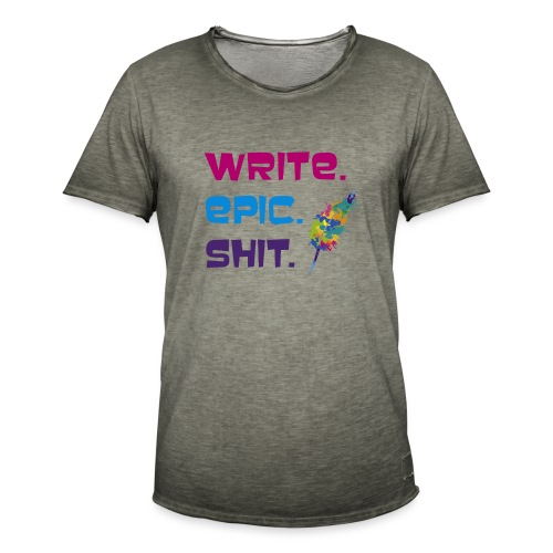 Write.Epic.Shit by www.Schreiben-im-Flow.de - Männer Vintage T-Shirt
