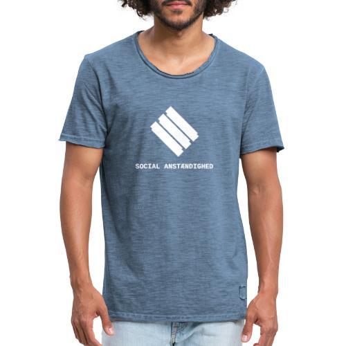 logo transparent hvid - Herre vintage T-shirt