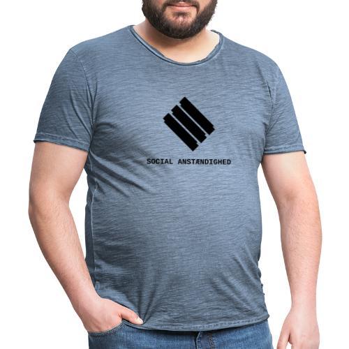 logo transparent sort - Herre vintage T-shirt